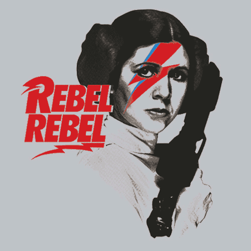 Rebel Rebel T-Shirt Mens T-Shirt - Textual Tees