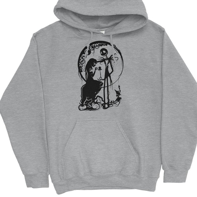 Sally and Jack Skellington Hoodie Hoodie - Textual Tees