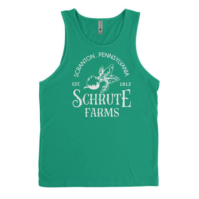 Schrute Farms Mens Tanktop Mens Tanktop - Textual Tees