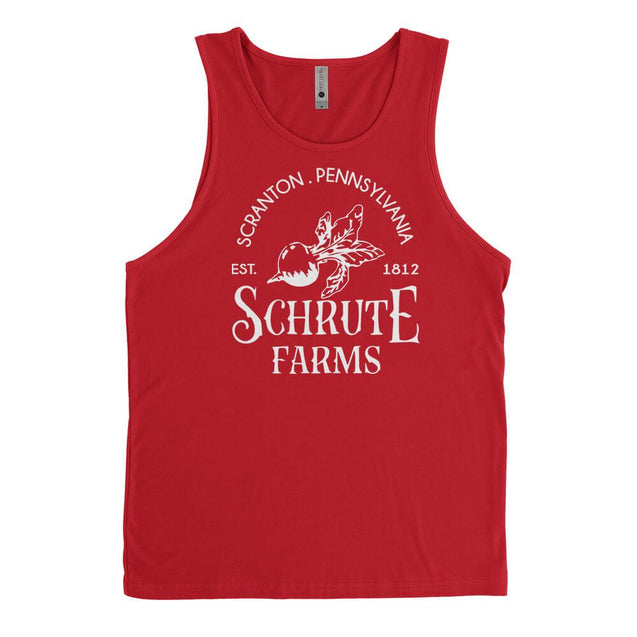Schrute Farms Mens Tanktop - Textual Tees