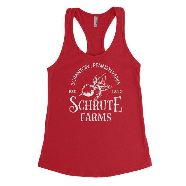 Schrute Farms Womens Tanktop Womens Tanktop - Textual Tees