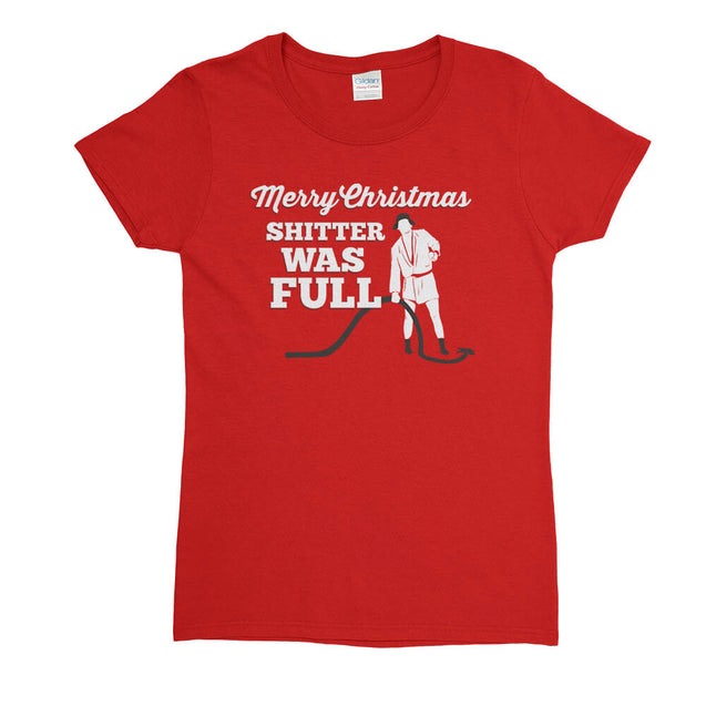 Merry Christmas Shitter Was Full T-Shirt Mens T-Shirt - Textual Tees