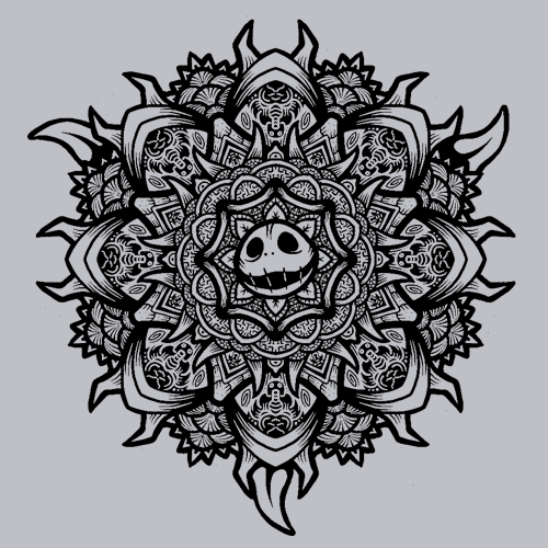 Skellington Mandala T-Shirt Mens T-Shirt - Textual Tees