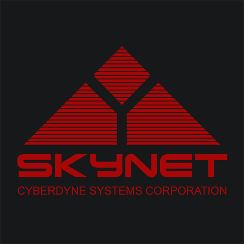 Skynet T Shirt Cyberdyne Systems Terminator Textual Tees