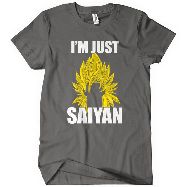 Im Just Saiyan T-Shirt Mens T-Shirt - Textual Tees