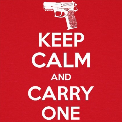 keep calm and carry one t shirt gun lover textual tees