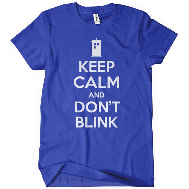 Keep Calm and Don't Blink T-Shirt Mens T-Shirt - Textual Tees