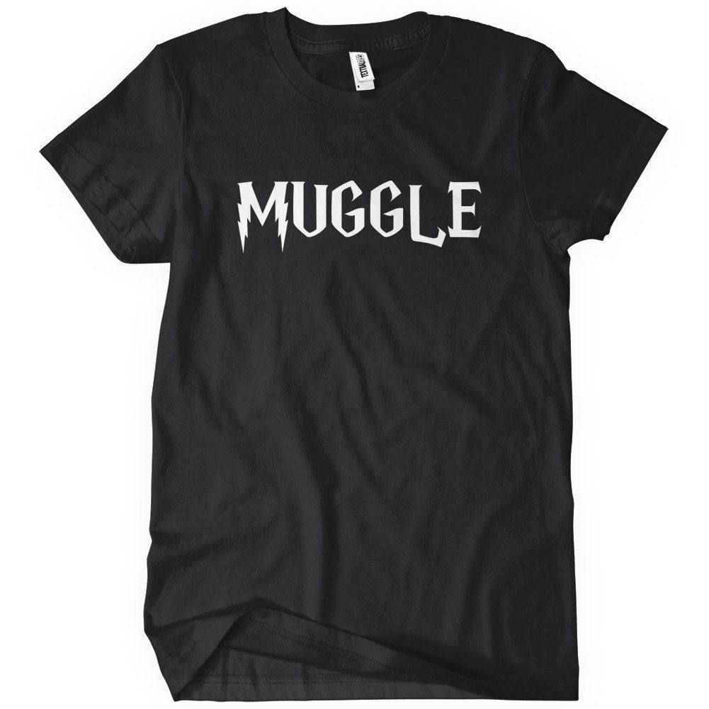 Muggle funny potter inspired t shirt textual tees for Cheap t shirt printing next day delivery