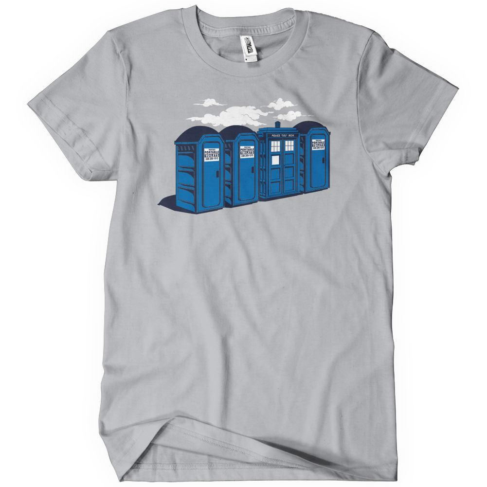 Port a tardis funny doctor who t shirt textual tees for Cheap t shirt printing next day delivery