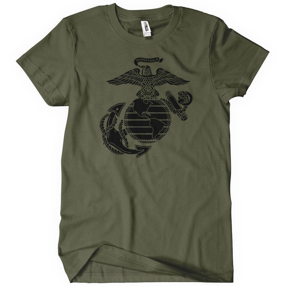 Us marine corps t shirt militart apparel textual tees for Cheap t shirt printing next day delivery