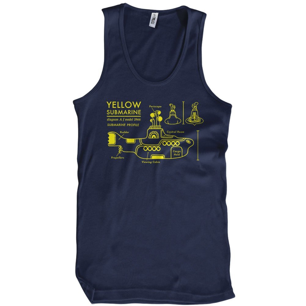 Yellow submarine t shirt blueprint textual tees t shirts yellow submarine blueprint malvernweather Choice Image