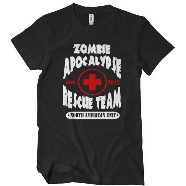 Zombie Apocalypse Rescue Team T-Shirt Mens T-Shirt - Textual Tees