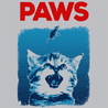 Paws Jaws Shark Week T-Shirt Mens T-Shirt - Textual Tees