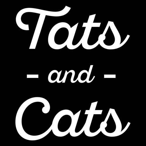 Tats and Cats T-Shirt Mens T-Shirt - Textual Tees