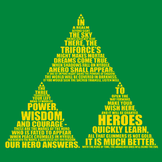 Triforce Typography T-Shirt