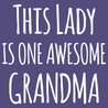 This Lady Is One Awesome Grandma T-Shirt
