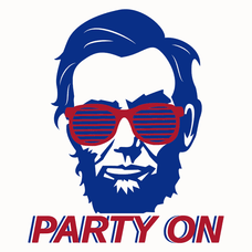 Abe Lincoln Party On T-Shirts - Textual Tees