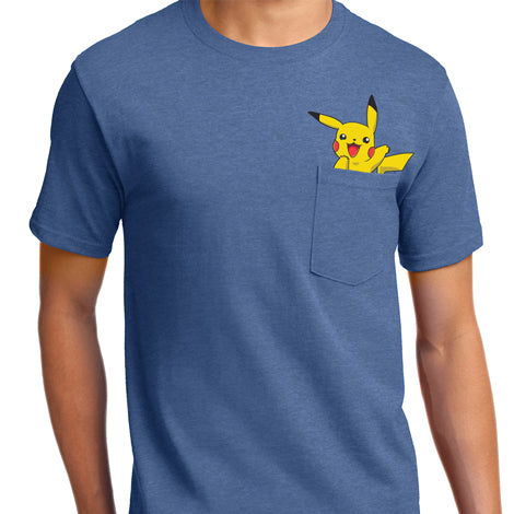 Pikachu Pocket T-Shirt Mens T-Shirt - Textual Tees