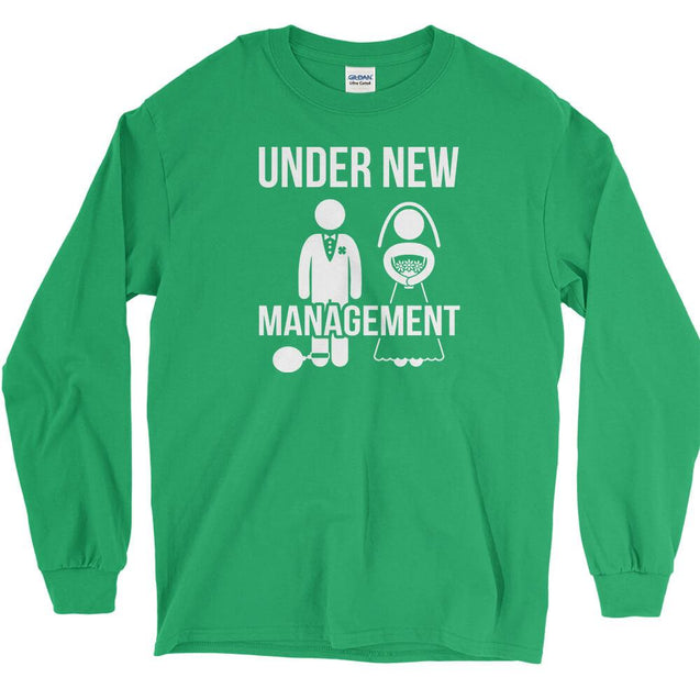Under New Management Long Sleeve T-Shirt Longsleeve T-Shirt - Textual Tees