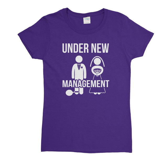 Under New Management Womens T-Shirt Womens T-Shirt - Textual Tees