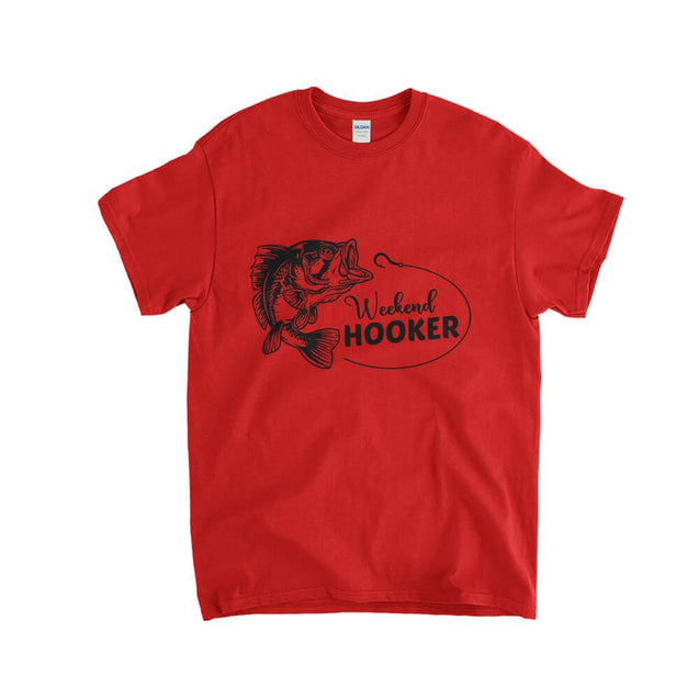 Weekend Hooker Fishing Kids T-Shirt Kids T-Shirt - Textual Tees
