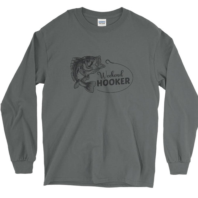 Weekend Hooker Fishing Long Sleeve T-Shirt Longsleeve T-Shirt - Textual Tees