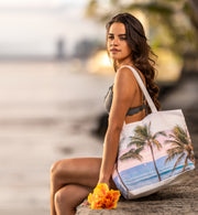 Palms Sail Large Tote
