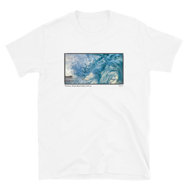 Feathers, Sandy Beach Oahu, 6:45 am Short-Sleeve Unisex T-Shirt