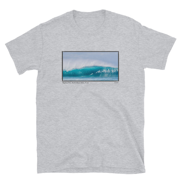 Pipeline Fire, 11 am, Short-Sleeve Unisex T-Shirt