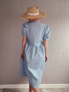 Winnie Baby Blue Poplin Dress
