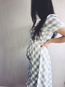 Penelope Gingham Midi Dress