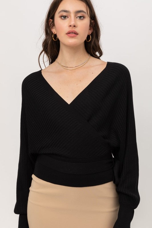 Wrap Tie Front Sweater
