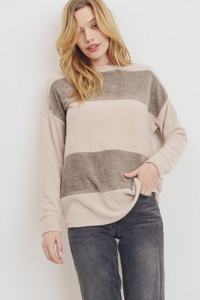 Color Block Chenille Sweater