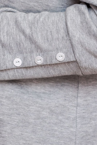Button Detail Hoodie
