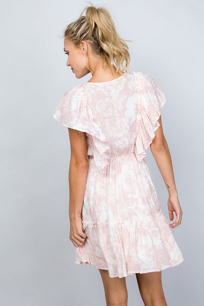 Floral Ruffle Hem Dress