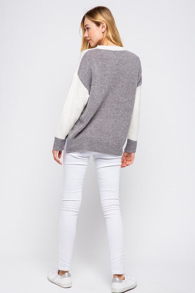 Back Color Block Sweater *FINAL SALE*