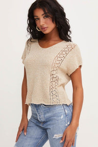Knit Back Tie Top