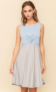Sleeveless Twist Knit Dress