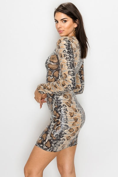 Sequin Snake Skin Dress *FINAL SALE*