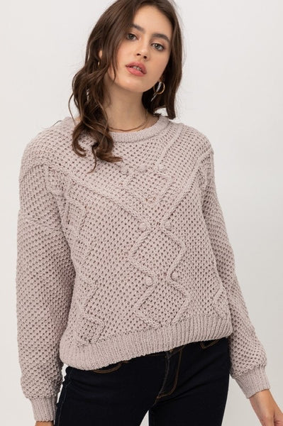 Chenille Detail Sweater