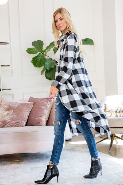 Buffalo Plaid Duster