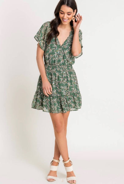 Flutter Sleeve Mini Dress