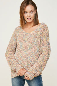 Twist Back Knit Sweater