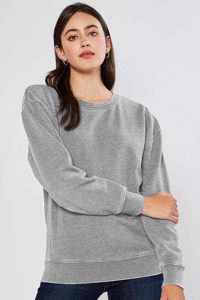 Fleece Burnout Sweatshirt
