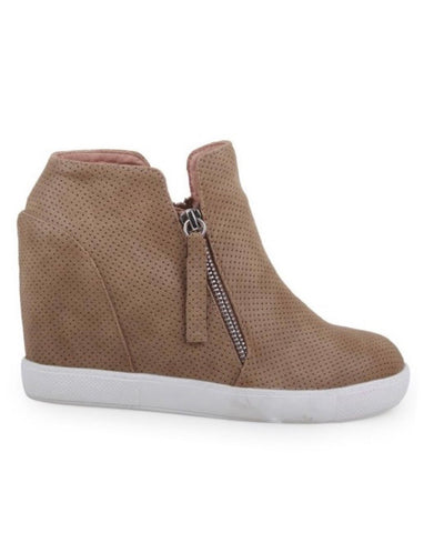 Zippered Sneaker Wedges
