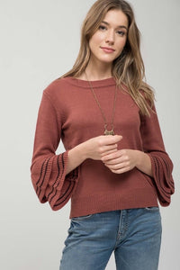 Tiered Sleeve Sweater