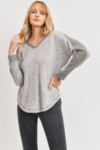 Contrast Sleeve Top