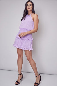 Ruffle Trim Smocked Dress