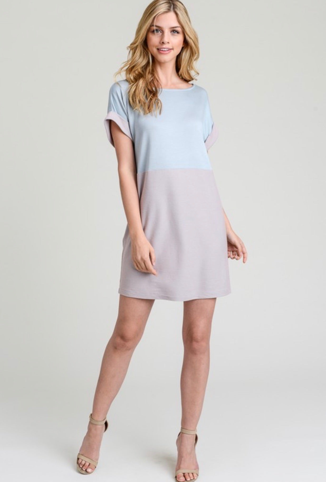 Two Toned T-Shirt Dress