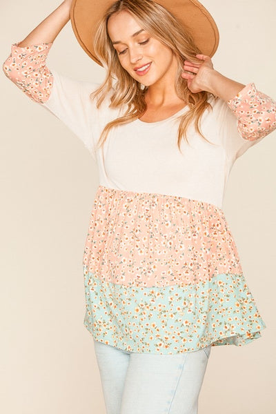 Floral Tiered Babydoll Top